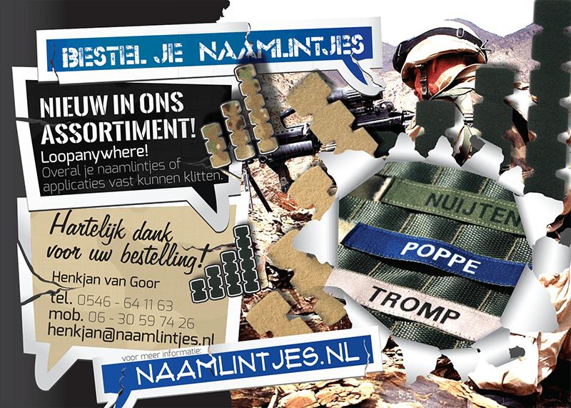 Ontwerp en bestel naamlabels op Naamlintjes! Ook voor legernaamlintjes.