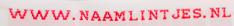 Rode tekst op witte achtergrond